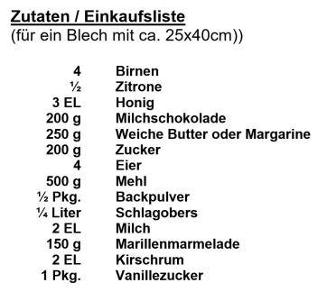 zutaten-schoko-birnen-kuchen