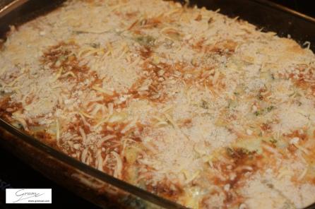 Kohlrabi-Kartoffel-Lasagne - überbacken