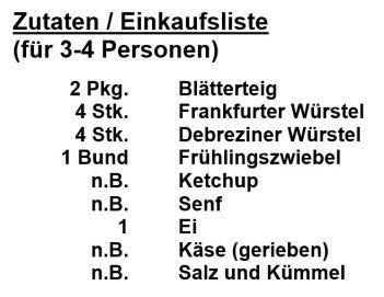 Zutaten-Würstel_im_Blätterteig