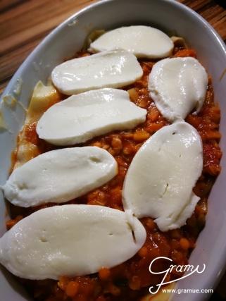 Geschichtete Lasagne
