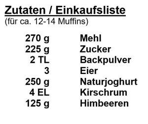 Zutaten-Himbeermuffins