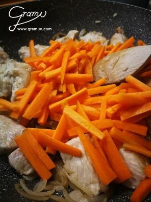 Fleisch und Karotten abraten