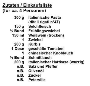 Zutaten Südtiroler-Nudelauflauf